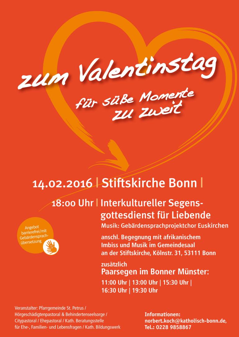 Valentinstag: Segen für Verliebte